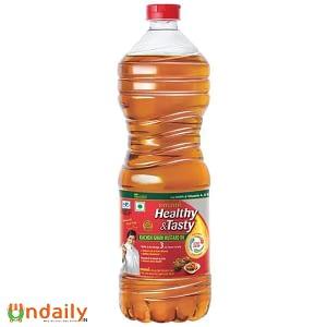 Emami Healthy & Tasty - Kachi Ghani Mustard Oil, 1 L Bottle