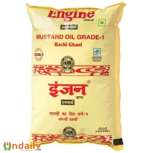 Engine Kacchi Ghani Mustard Oil, 1 L Pouch