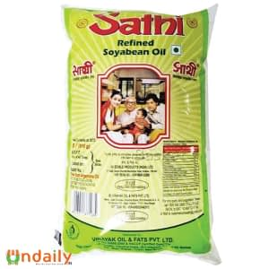 Sathi Refined - Soyabean Oil, 1 L Pouch