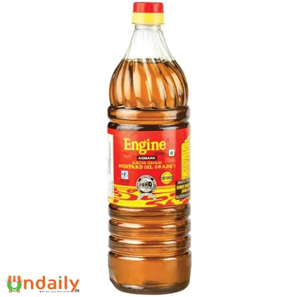 Engine Kacchi Ghani Mustard Oil, 1 L Bottle